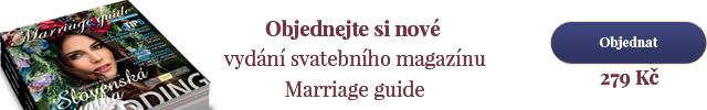Objednejte si nové vydání svatebního magazínu Marriage guide