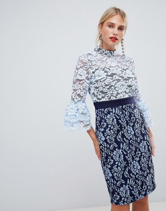 Paper Dolls High Neck Lace Dress