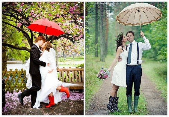 Svatební holínky pro nevěstu a ženicha: Ideální podzimní obutí