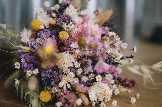 Jak usušit svatební kytici