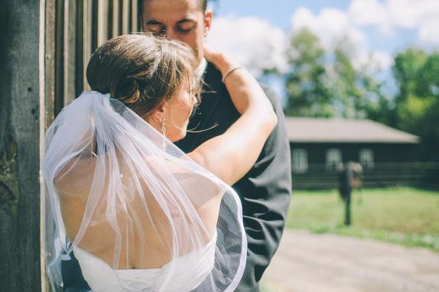 Svatební focení nevěsty a ženicha ještě před obřadem