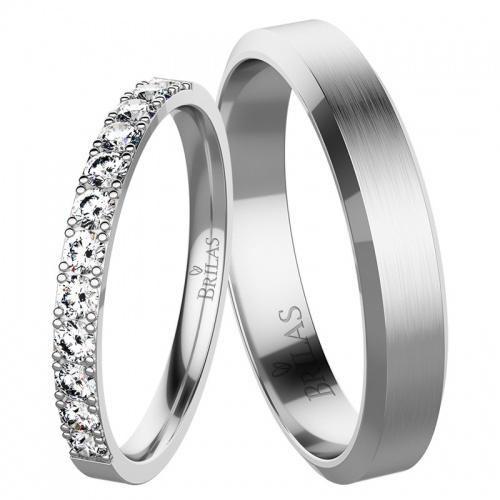 Snubní prsteny slunce white