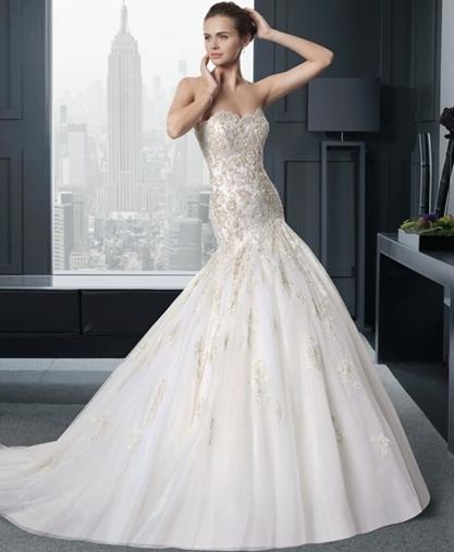 """Svatební šaty střihu """"mořská panna"""""""