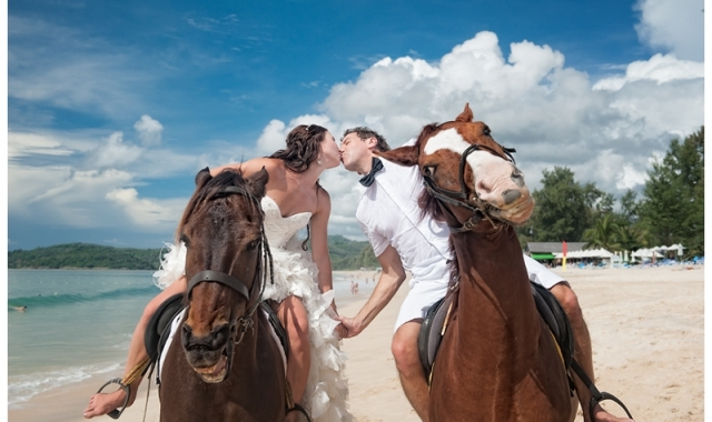 Koně, dravci a šerm na svatbě