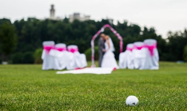 Svatba na golfovém hřisti - Hluboká nad Vltavou