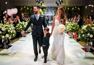 Svatba s dětskou láskou – Lionel Messi si užil svou svatbu století