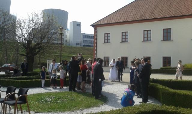Svatba v Temelíně