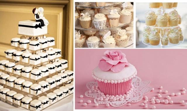 Svatební dort nahraďte cupcaky