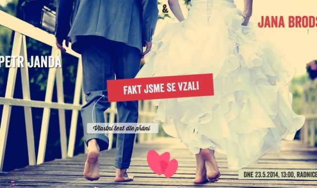 Svatební oznámení až po svatbě