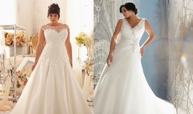 Svatební šaty pro baculky  e6e1e4ef33