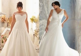 Svatební šaty pro baculky