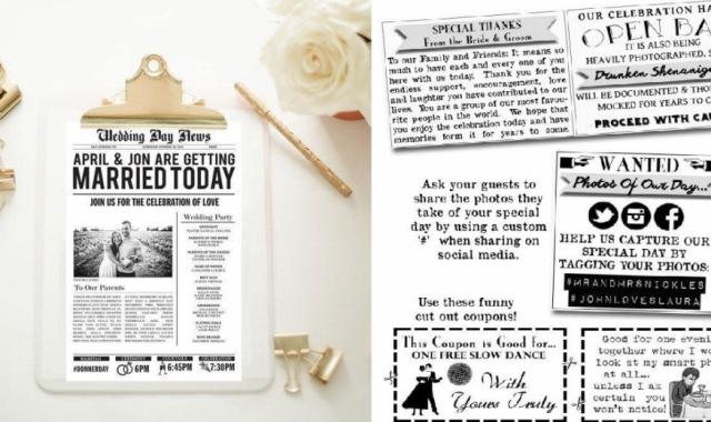 Tipy na svatební noviny a jejich obsah