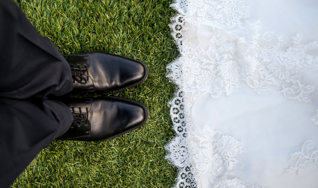 Zaměřeno na boty pro ženicha
